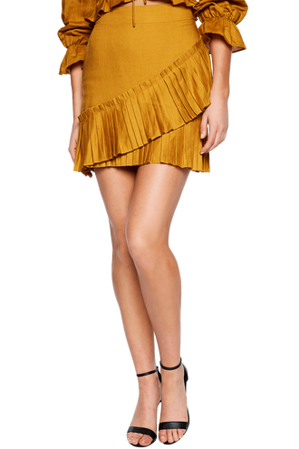 MONACO PLEAT SKIRT in colour MIMOSA