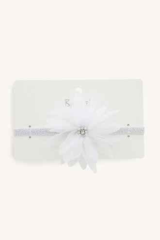 GARDEN FLOWER STRETCH HEADBAND in colour WHITE ALYSSUM