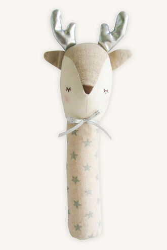 REINDEER SQUEAKER - SILVER STAR in colour SILVER