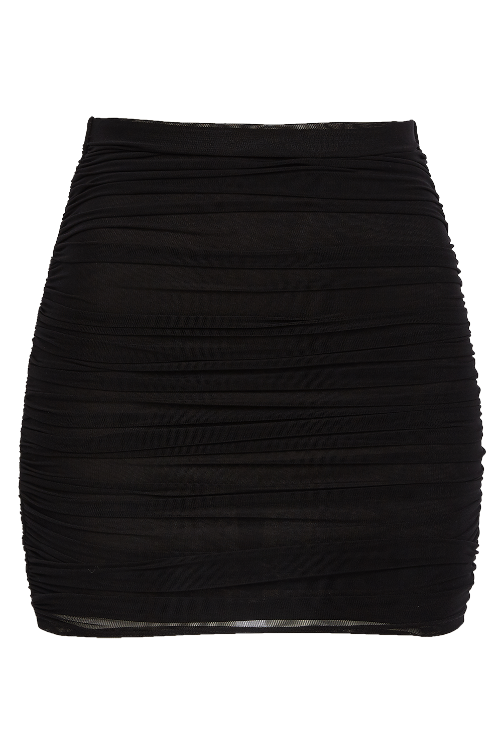 FRANKI MESH SKIRT in colour CAVIAR