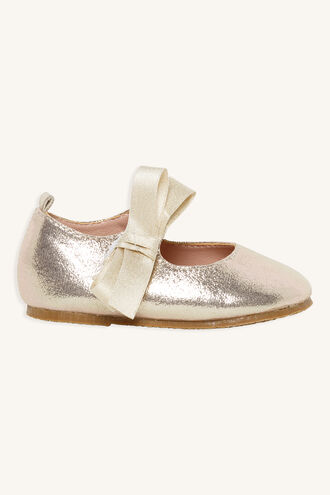 TODDLER BOW MARY JANE SHOE in colour GOLD EARTH