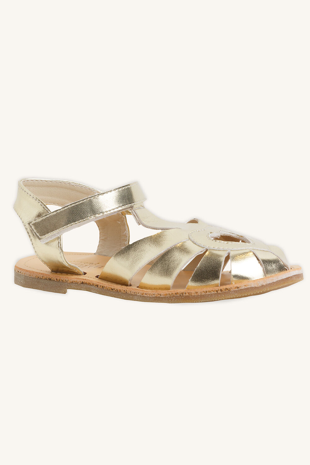 HEART CUT OUT SANDAL in colour GOLD EARTH