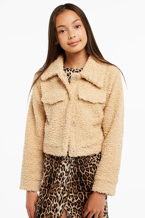 CROP SHERPA JACKET