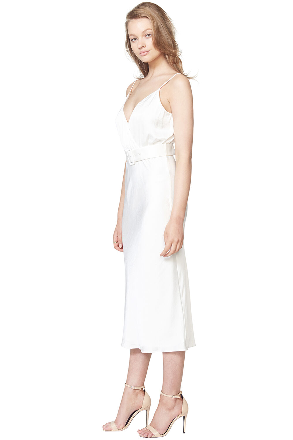 REAGAN MIDI DRESS in colour CLOUD DANCER