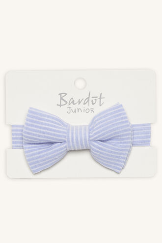 BENNY STRIPE BOW TIE in colour BLUE BELL