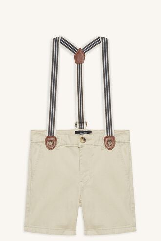 CHINO BRACES SHORT in colour FOG