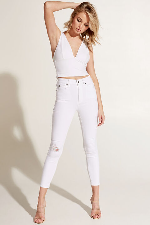 LUCILLE TOP in colour BRIGHT WHITE