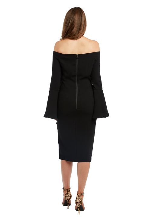 SOLANGE DRESS in colour JET BLACK