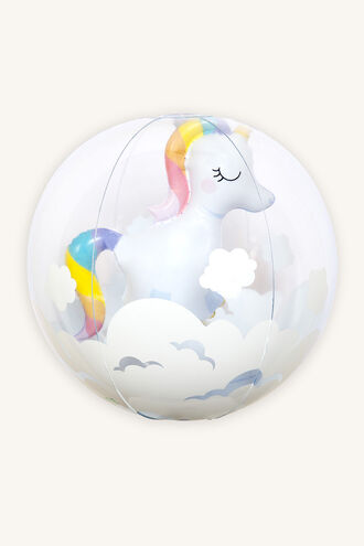3D INF. BEACH BALL UNICORN in colour BRIGHT WHITE