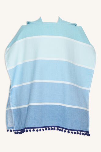 KIDS HOODED FOUTA TOWEL BOY in colour BLUE BELL
