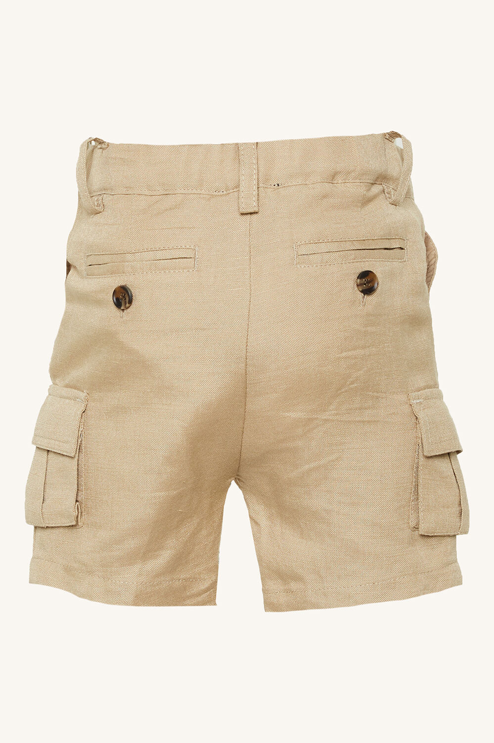 CY LINEN CARGO SHORT in colour TAPIOCA