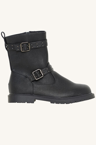 STUDDED ANKLE BOOT in colour METEORITE