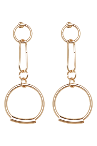 ROUND HOOP EARRINGS in colour GOLD EARTH