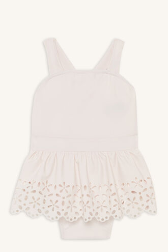 BRODERIE ONE PIECE SWIMSUIT in colour HEAVENLY PINK