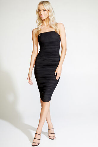 NAOMI DRESS. in colour CAVIAR