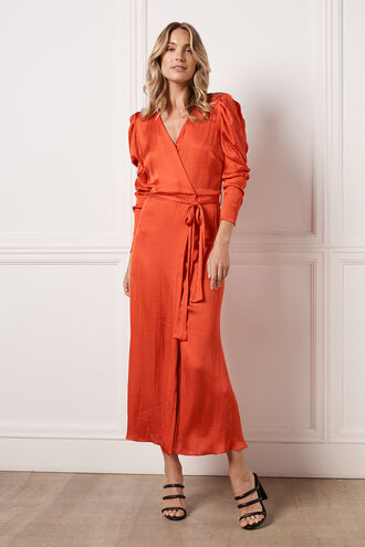 ALIVIA WRAP DRESS in colour FIESTA