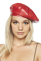 BERET ALL THE WAY in colour RED BUD