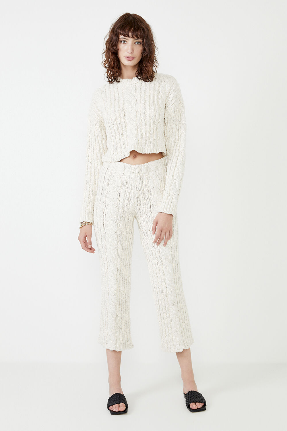 THE KNIT PANT  in colour VANILLA ICE
