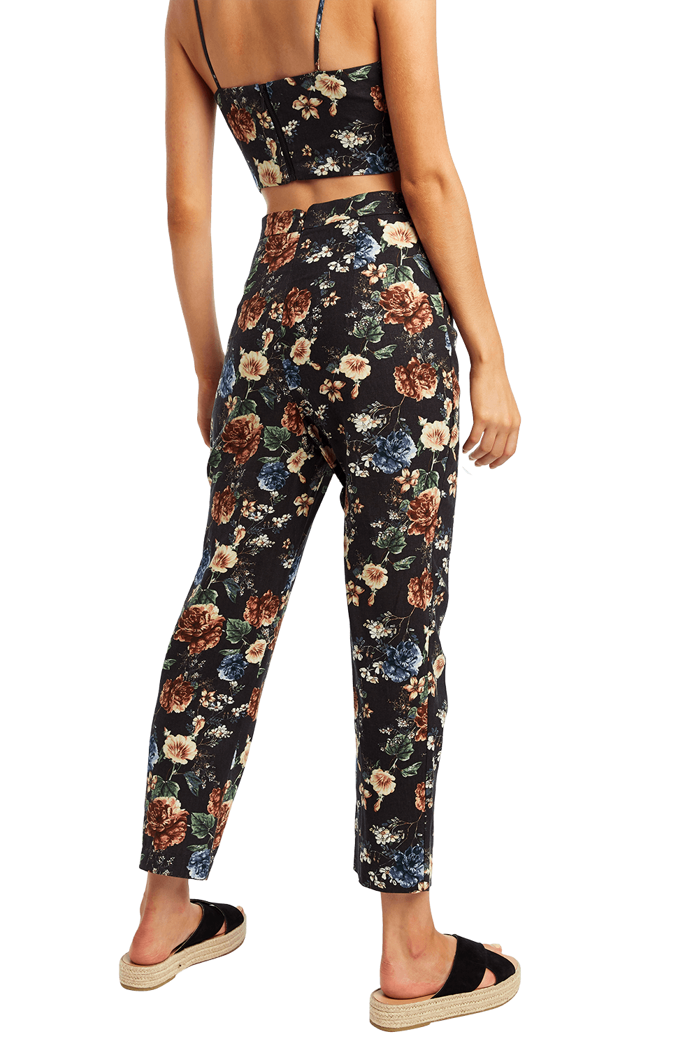 FLORAL SLIM PANT in colour STRETCH LIMO