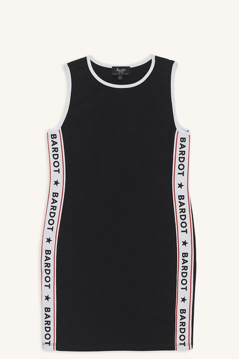 BARDOT SPORTS DRESS in colour JET BLACK