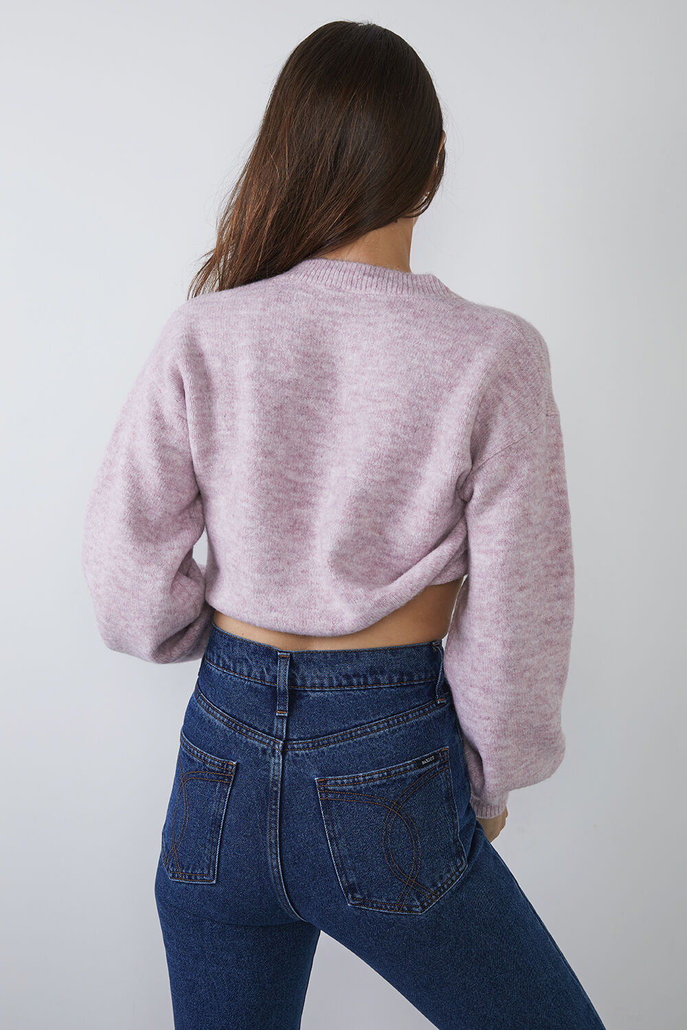 CHLOE CROP KNIT in colour CAMEO BROWN