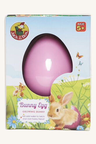 GROWING  PET BUNNY  EGG in colour BRIGHT WHITE