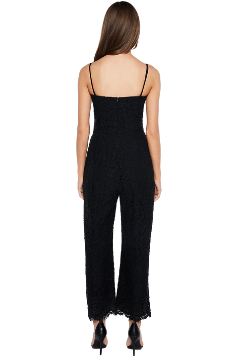 SIENNA LACE JUMPSUIT in colour CAVIAR