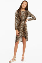 ALLEGRA TWIST DRESS in colour LATTE