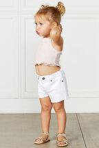 BABY GIRL FRANKIE DENIM SHORT in colour BRIGHT WHITE