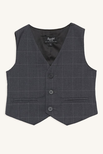 ALFIE SUIT VEST in colour CASTLEROCK