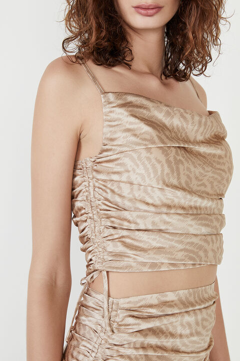 KATE ROUCHED CAMI in colour TURTLEDOVE