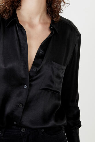 CLASSIC COLLAR SHIRT in colour CAVIAR
