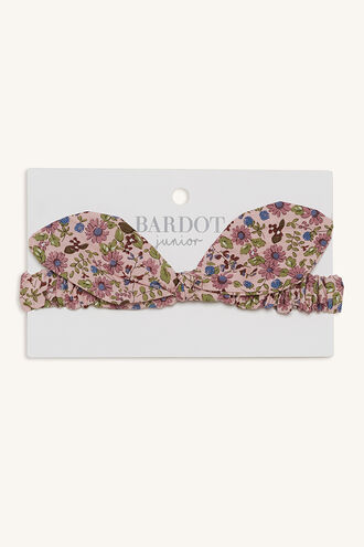 GEMMA BOW HEADBAND in colour BRIGHT WHITE