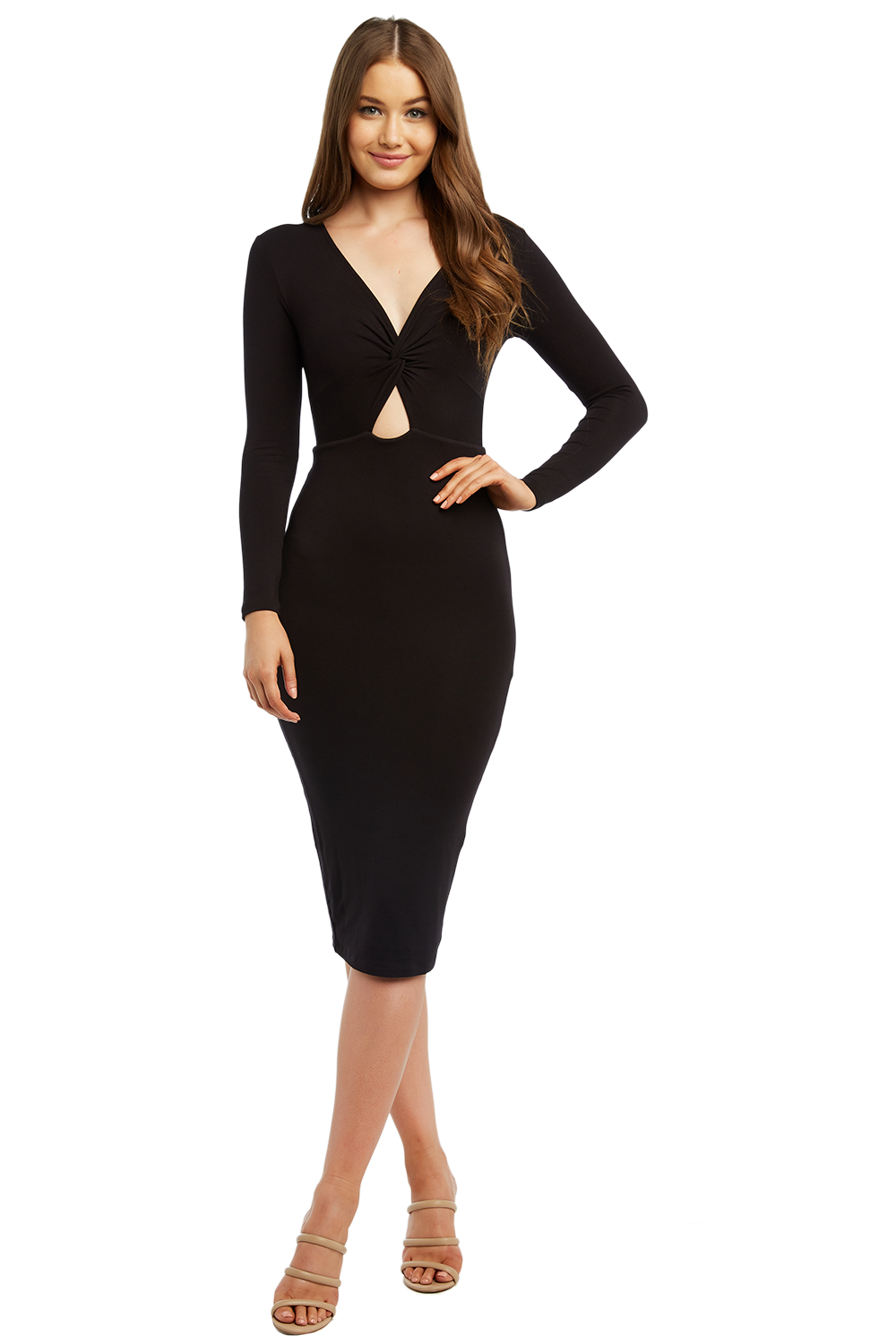 5720f1817993 Twist Front Knit Dress | Ladies Clothing & Dresses | Bardot