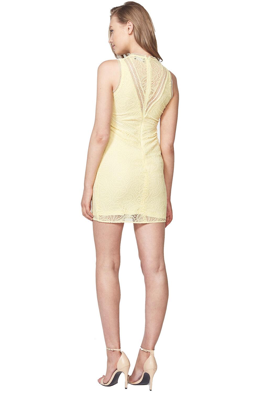AUBREY LACE DRESS in colour SUNSHINE
