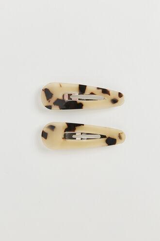 RESIN CLIPS in colour BRIGHT WHITE