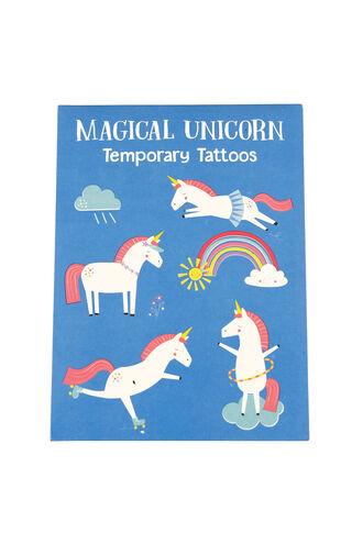 Temporary Tattoos - Unicorn in colour BRIGHT WHITE