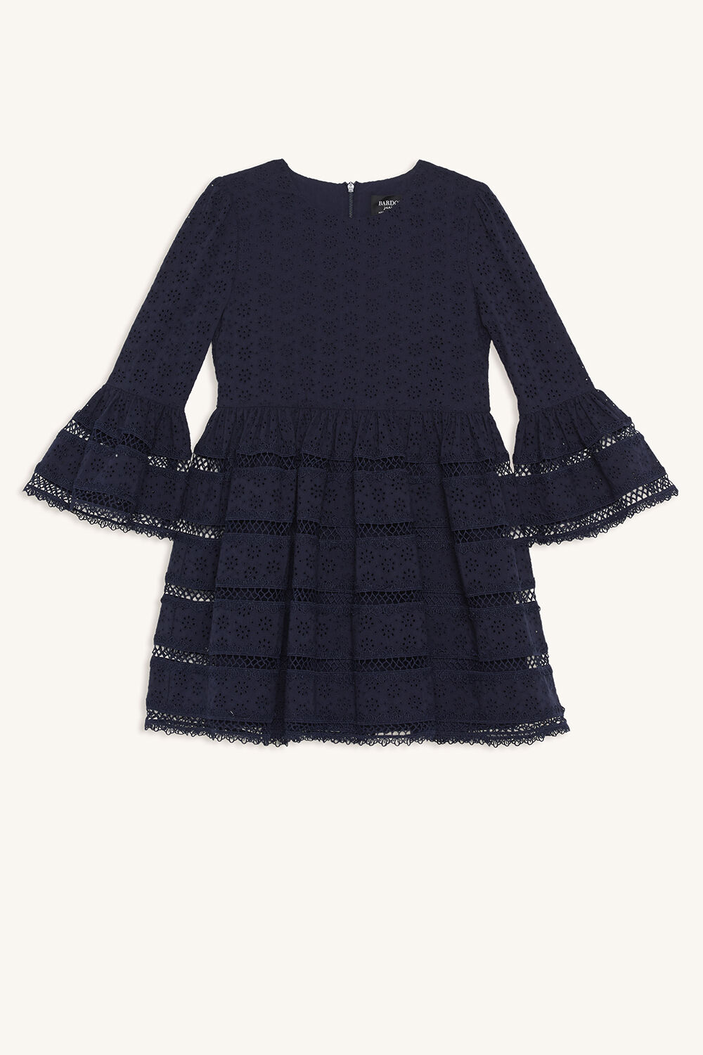 SELMA TRIM DRESS in colour MARITIME BLUE