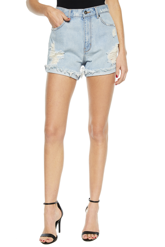 TYRA DENIM SHORT in colour CITADEL