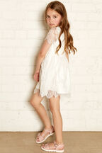 MARGOT LACE DRESS in colour CLOUD DANCER