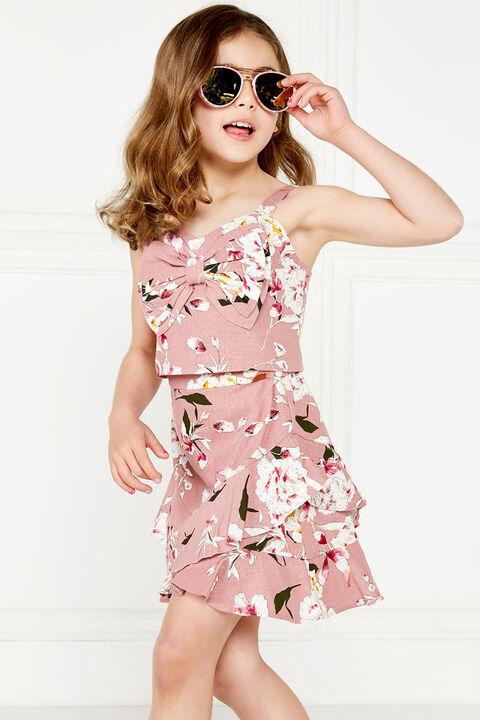 HAILEY RUFFLE SKIRT in colour BRIDAL ROSE