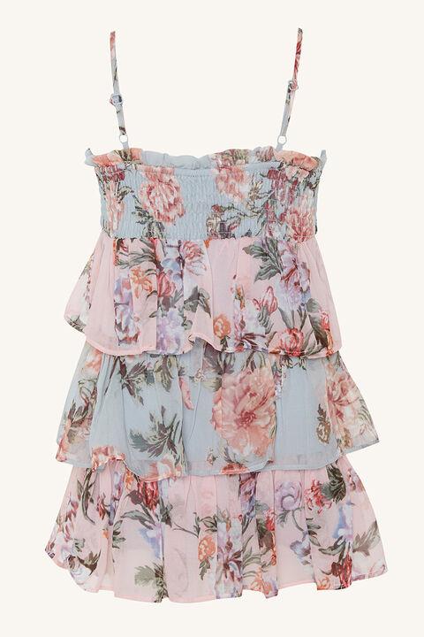 MINKA TIER DRESS in colour WINTER SKY