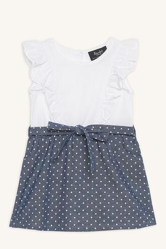 SPOT 2FA DRESS in colour BRIGHT WHITE