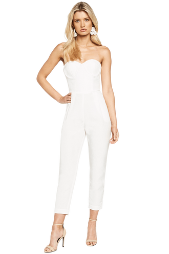 EVA JUMPSUIT in colour CLOUD DANCER