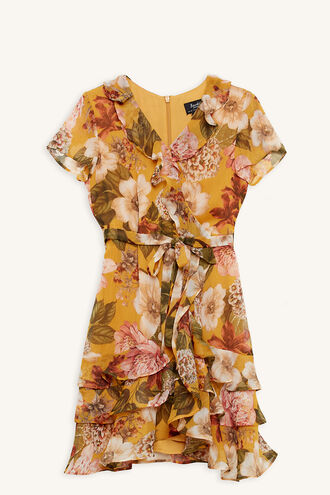 LUELLA WRAP DRESS in colour MISTED YELLOW