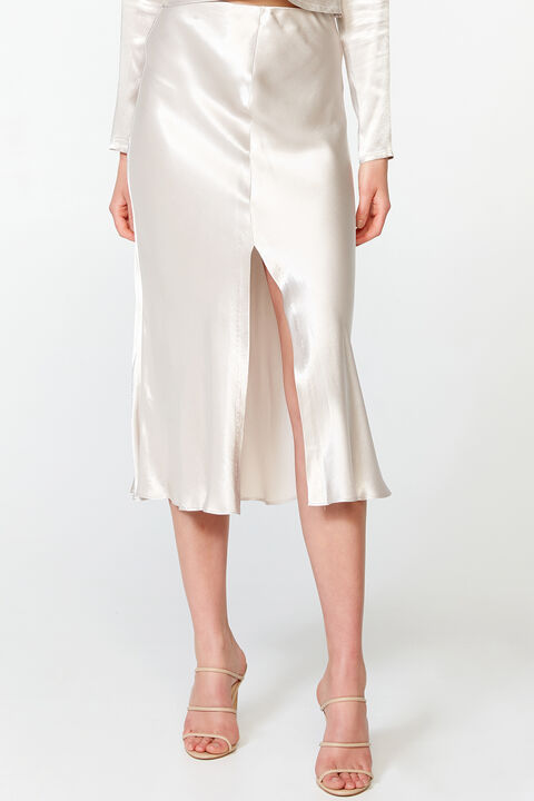 MIDI SLIP SKIRT in colour RAINY DAY
