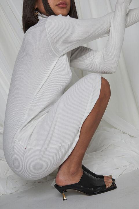 TAHANI KNIT DRESS in colour CLOUD DANCER
