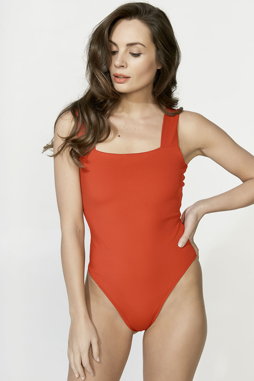 MIMI BODYSUIT in colour CRIMSON