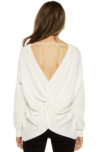 KNOT BACK SWEATSHIRT in colour BRIGHT WHITE