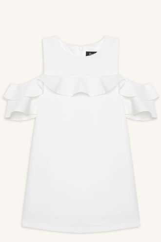 TILVIE SHIFT DRESS in colour CLOUD DANCER